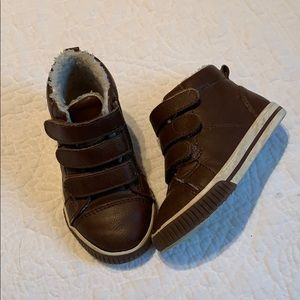 Gymboree Faux Leather and Fur High Top